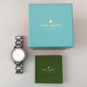 Kate Spade Silver Gramercy Grand Pave Watch